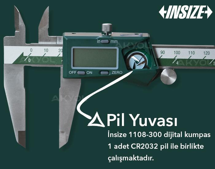 insize 1108-300 elektronik kumpas